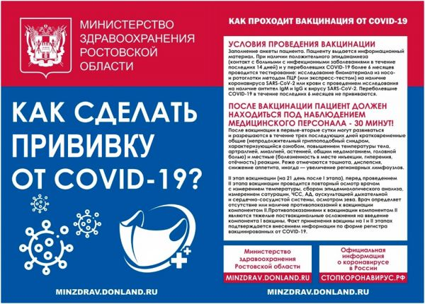 Как сделать прививку от COVID - 19