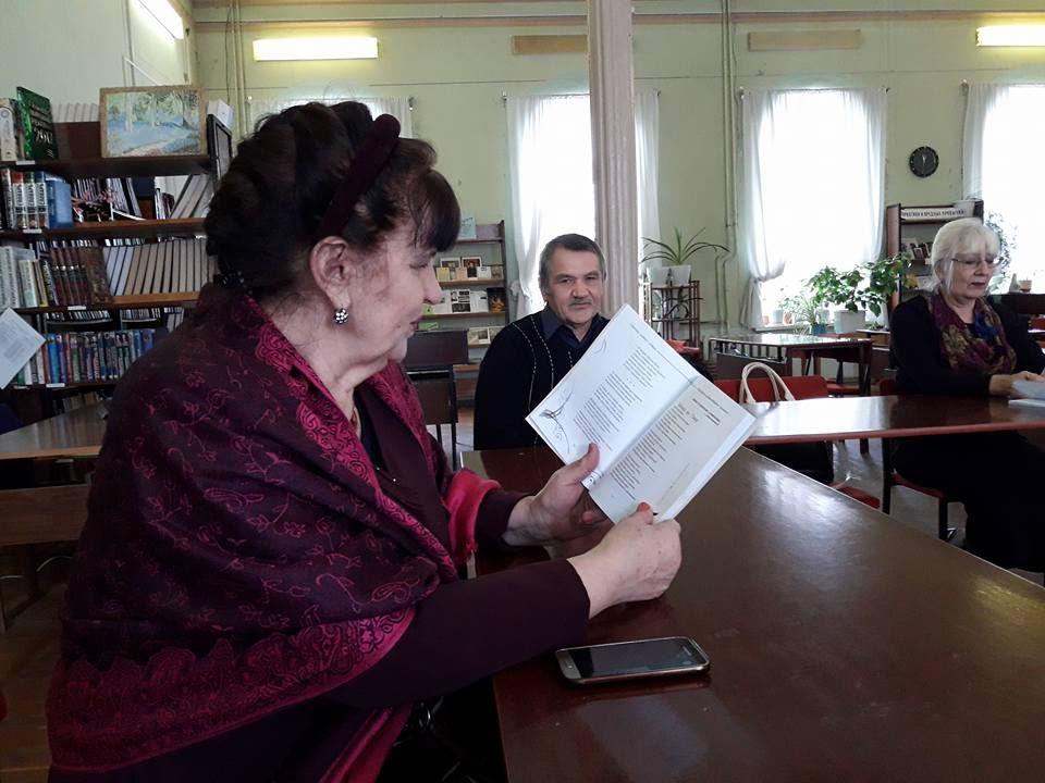 Заседание в литературно - творческой студии