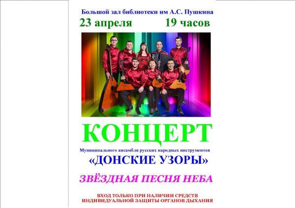 КОНЦЕРТ Муниципального ансамбля русских народных инструментов «ДОНСКИЕ УЗОРЫ»
